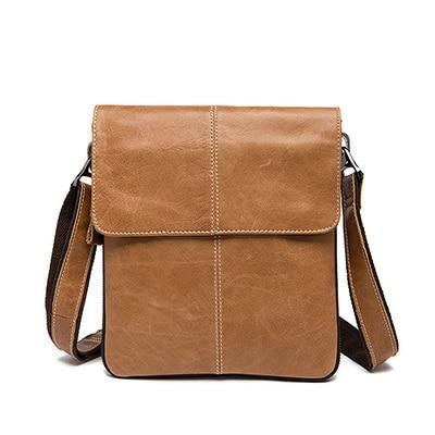 The Bosika Genuine Leather Men's Shoulder Bag-Bags-Pickled Peppa