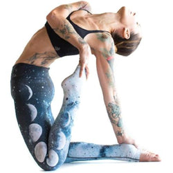 Moon Eclipse Printed Yoga Leggings - ebuzzstore.com