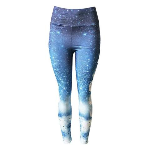 Moon Eclipse Printed Yoga Leggings-Yoga-Pickled Peppa