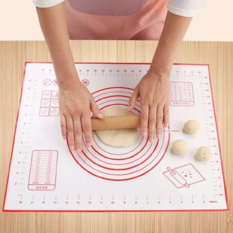 Easy Clean Silicone Pastry Mat With Measurements-KITCHEN-Pickled Peppa