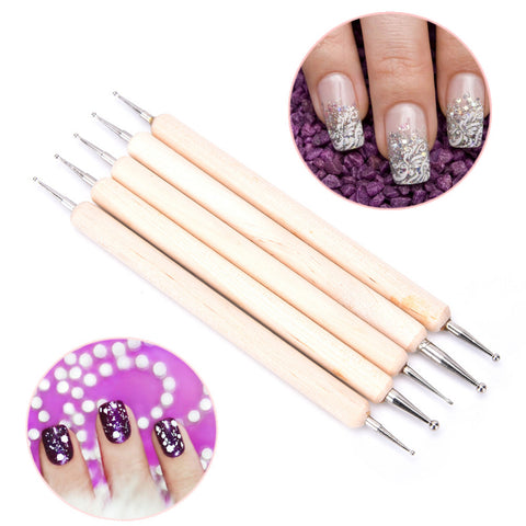 Professional Double-Ended Nail Art Wood Pens-Beauty-Pickled Peppa