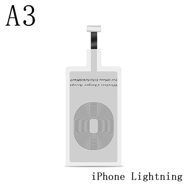Qi Wireless Phone Charger - Receiver pad For Lightning Dock Micro USB Type C-charger-Pickled Peppa