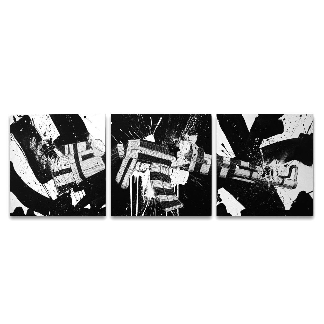 Bisco Smith X Ralph Ziman: Klashnikov - 54x18 (Triptych) - Bisco Smith