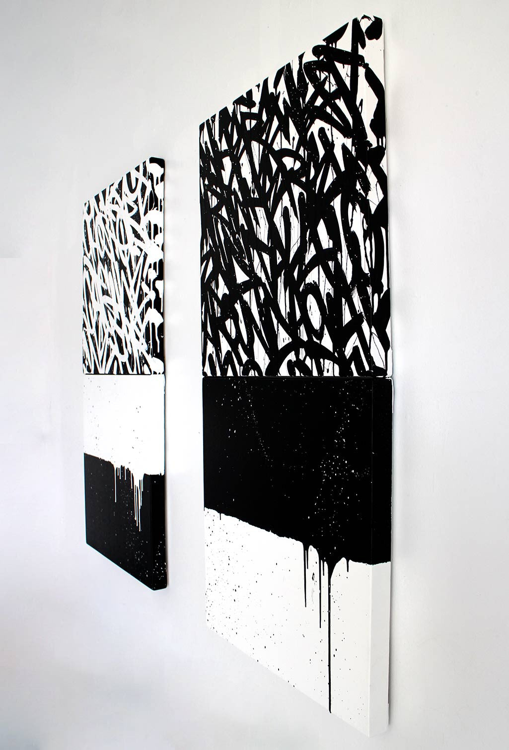 STACKS (DARK) - 22X44 Diptych - Bisco Smith