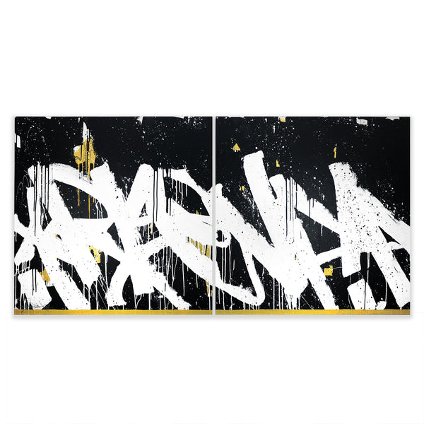 RISE (DIPTYCH) - 80X40 - Bisco Smith