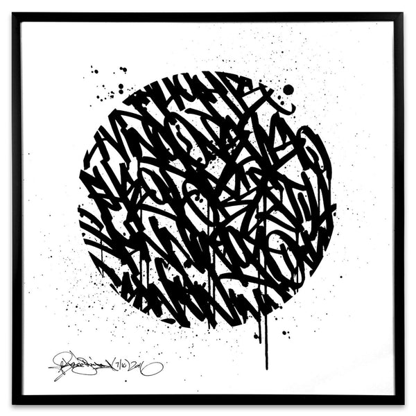 Universal Law | 12x12 | Framed Screen Print - Bisco Smith