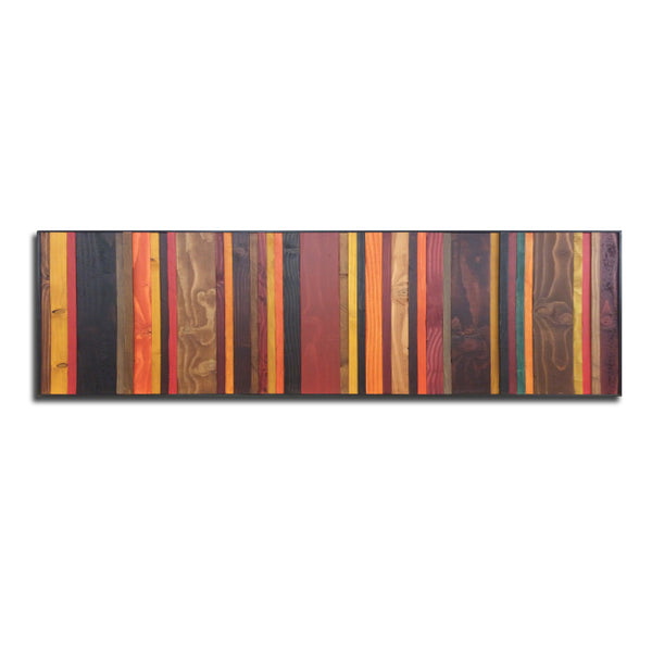 "Autumn colors wood wall art in 16"" by 55"" dimensions"