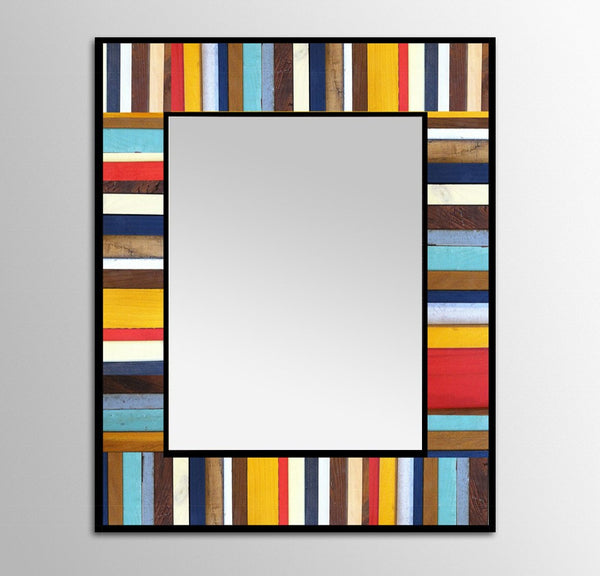 Cape Cod Painted Wood Mirror - Short
