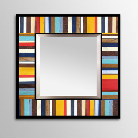 Cape Cod Painted Wood Mirror - Square
