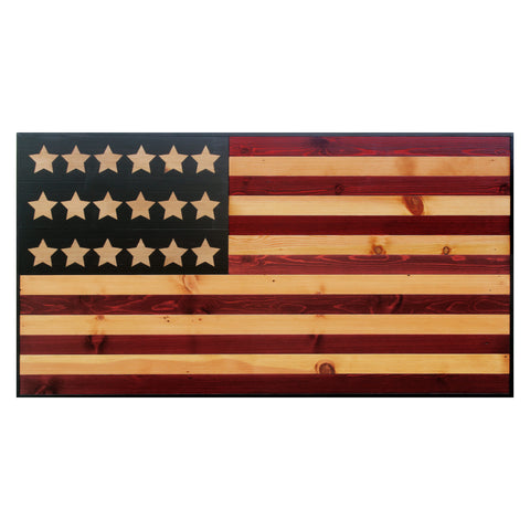 American Flag Weathered Reclaimed Wood Wall Art