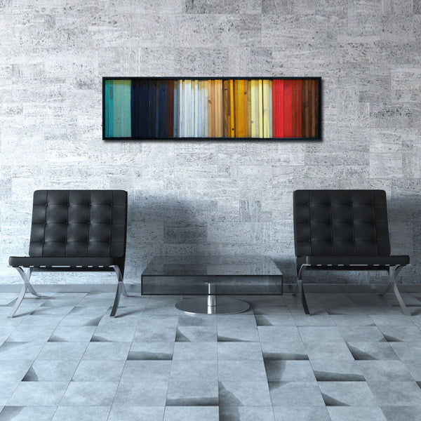 Gradient reclaimed wood wall art free shipping scrap for Where to find reclaimed wood for free