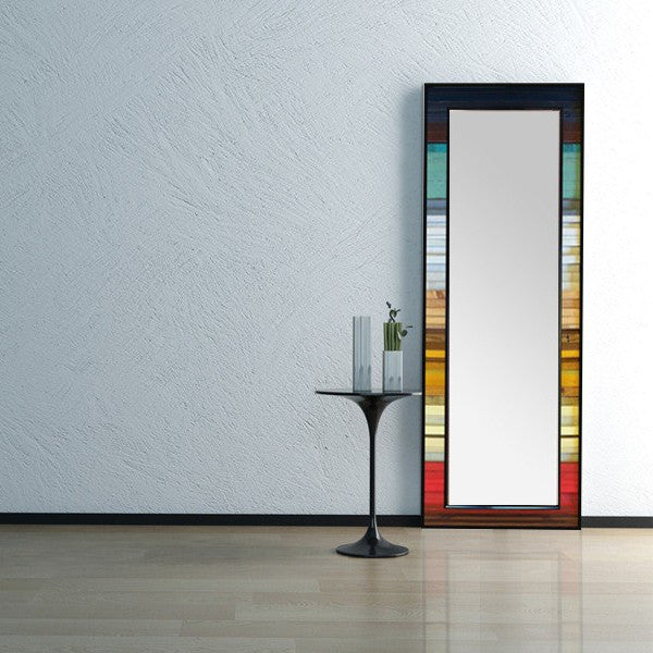 Gradient Wood Wall Art Mirror - Vertical