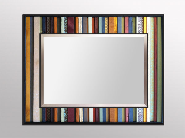 India Reflection Wood Wall Art - Wall Mirror
