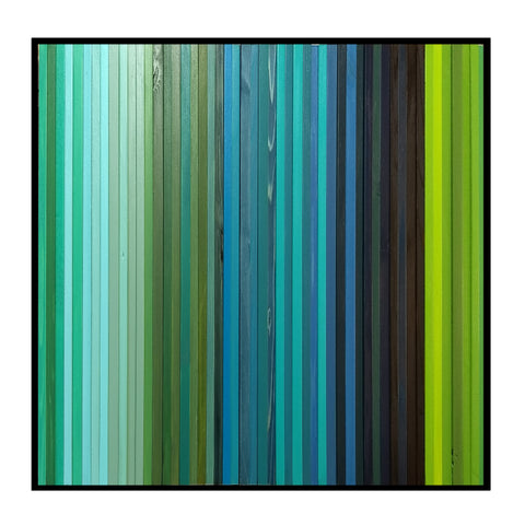Square Lagoon -  Modern Wood Wall Art