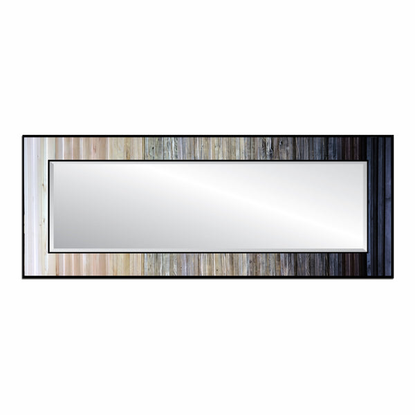 Black and white reclaimed wood mirror - horizontal