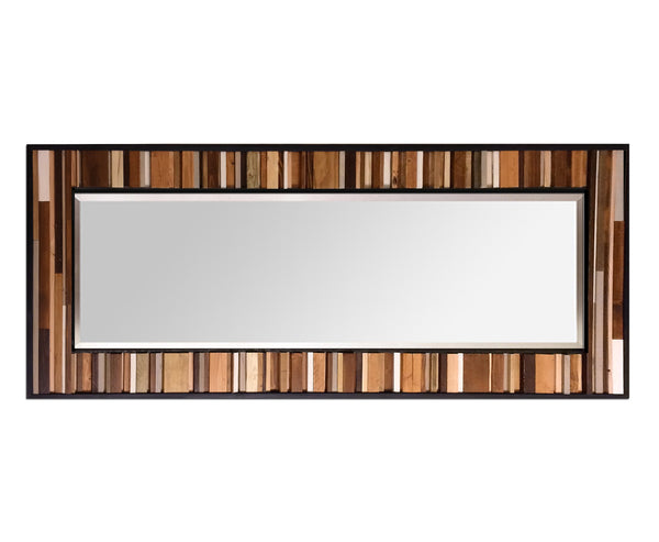 Reclaimed Reflection Wood Wall Art - Leaner Mirror