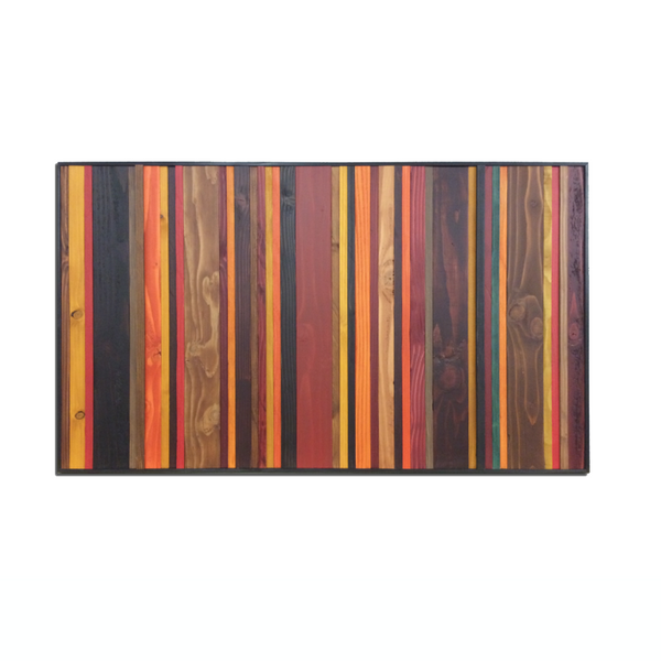 "Autumn colors wood wall art in 24"" by 48"" dimensions"