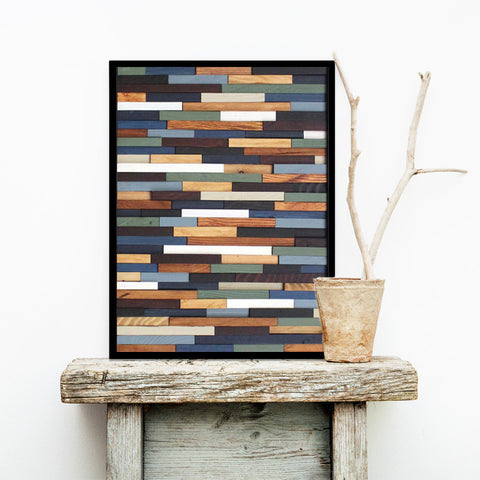 Sea Crest Reclaimed Wood Wall Art - Small