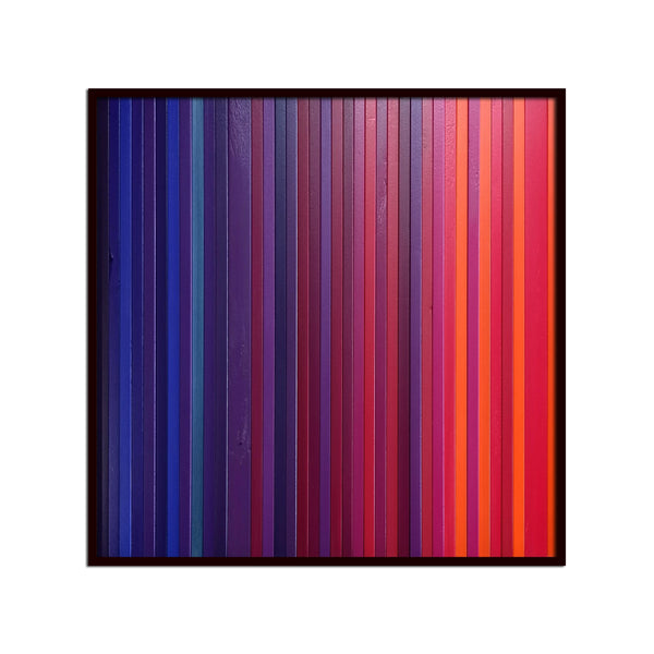 Square Fuchsia Bloom -  Modern Wood Wall Art