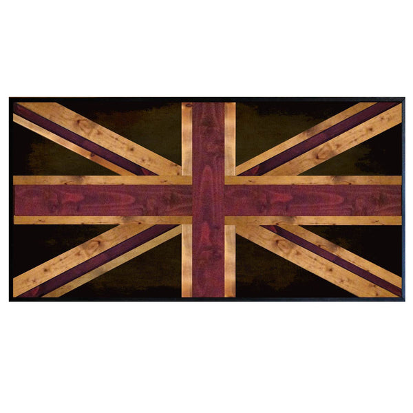 UK Union Jack Flag Weathered Reclaimed Wood Table