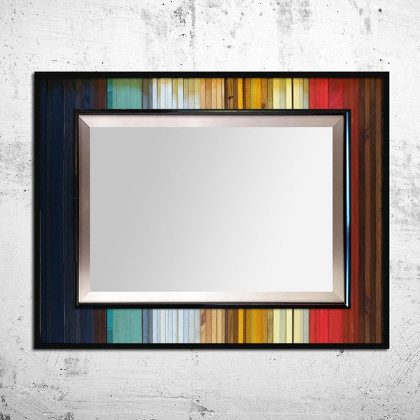 Mirrors - Gradient Reflection Wood Wall Art - Wall Mirror