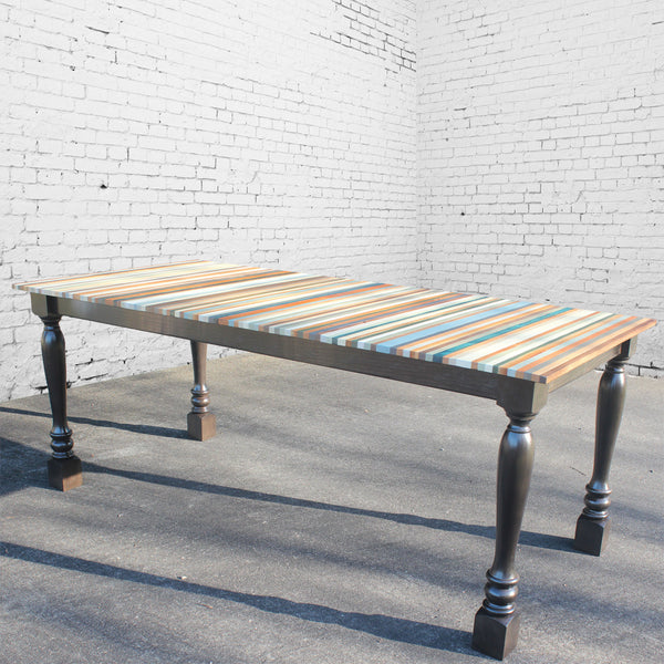 Beach Wood Stripe Dining Table