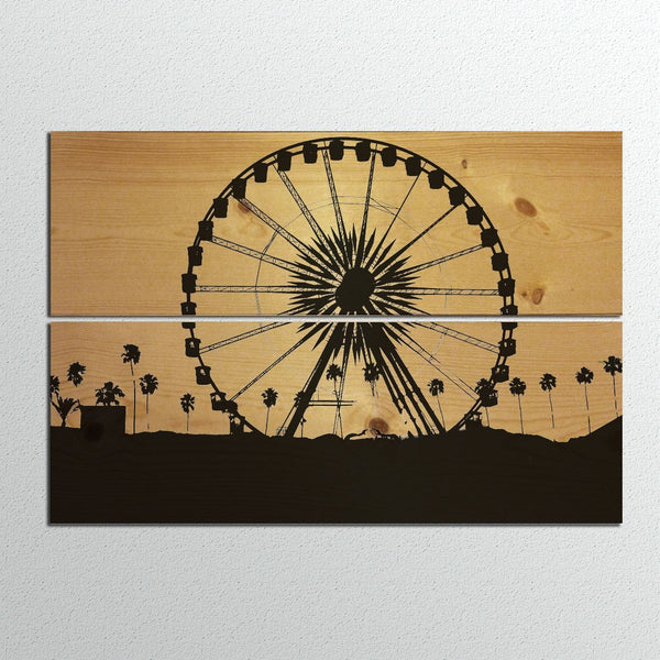 Panel Prints - Coachella Ferris Wheel Wood Panel Print