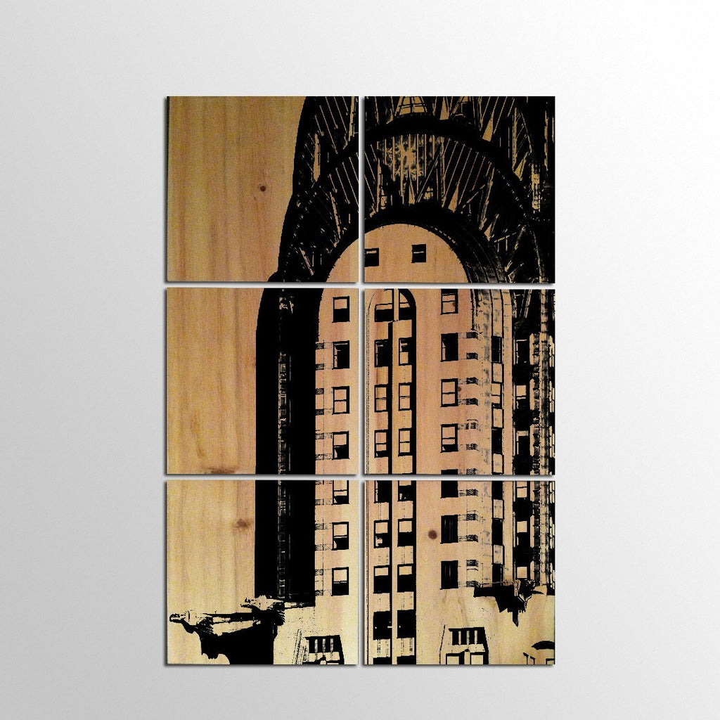 Panel Prints - New York Chrysler Building Wood Panel Print