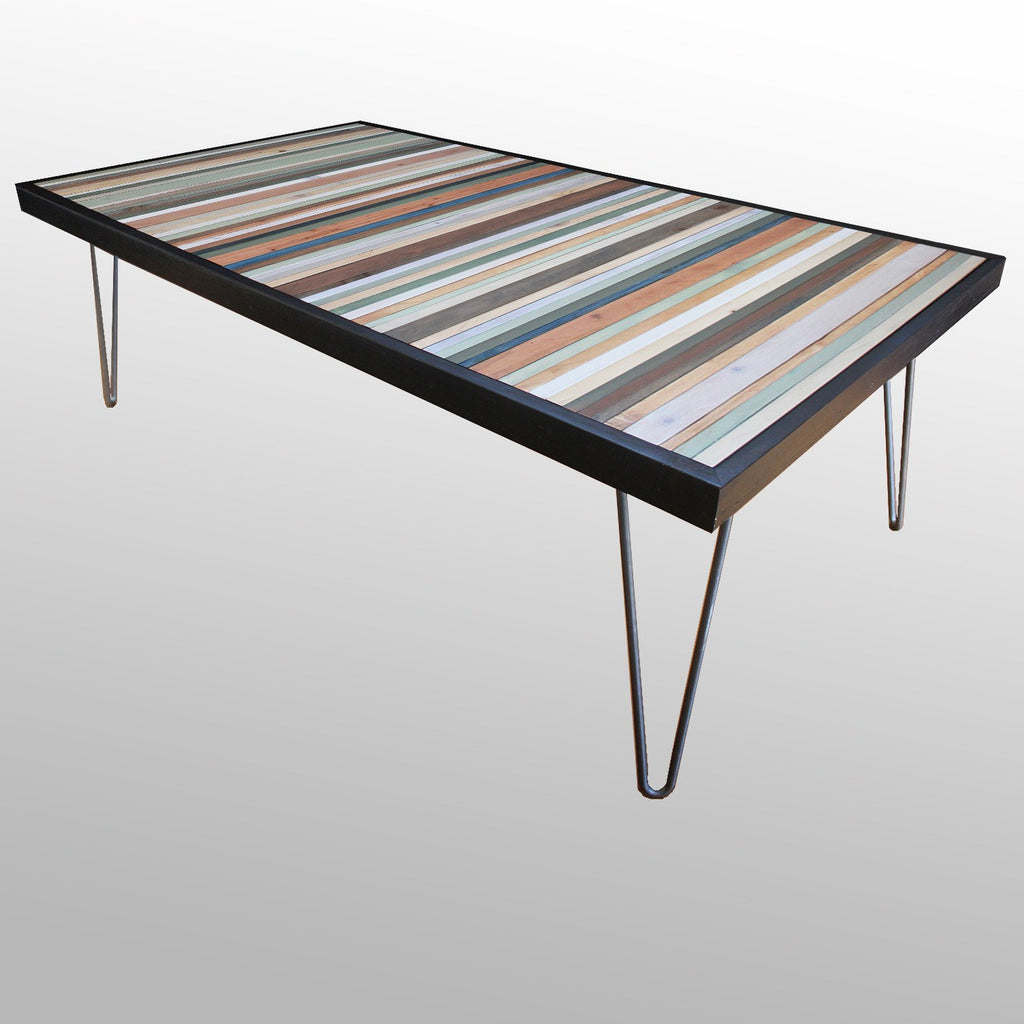Tables - Beach Reclaimed Wood Stripe Desk Or Coffee Table