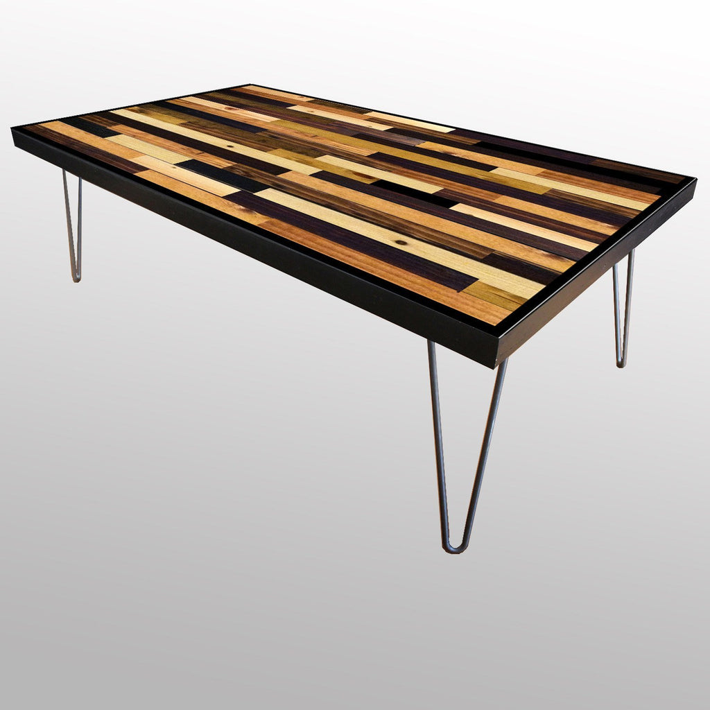 Beau Tables   Handmade Stained Wood Plank Table