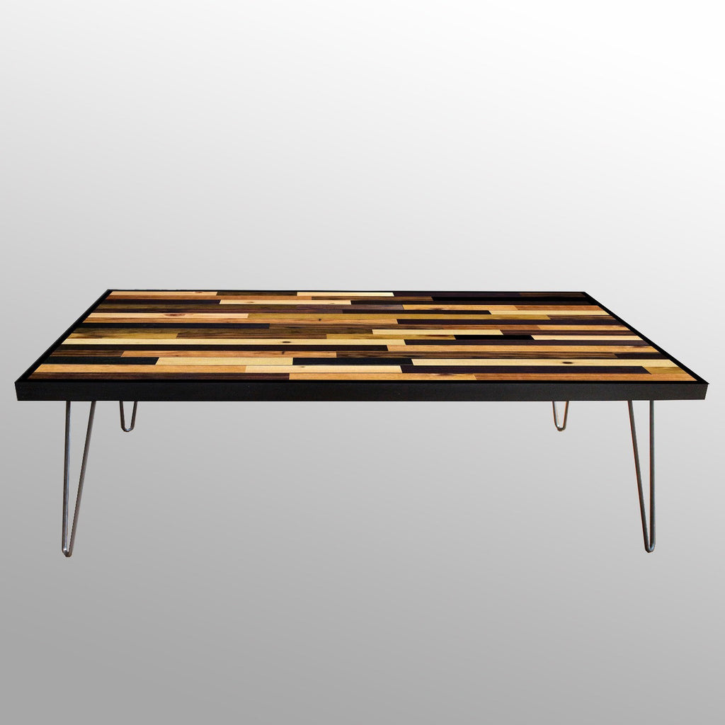 handmade stained wood plank table – scrap wood designs