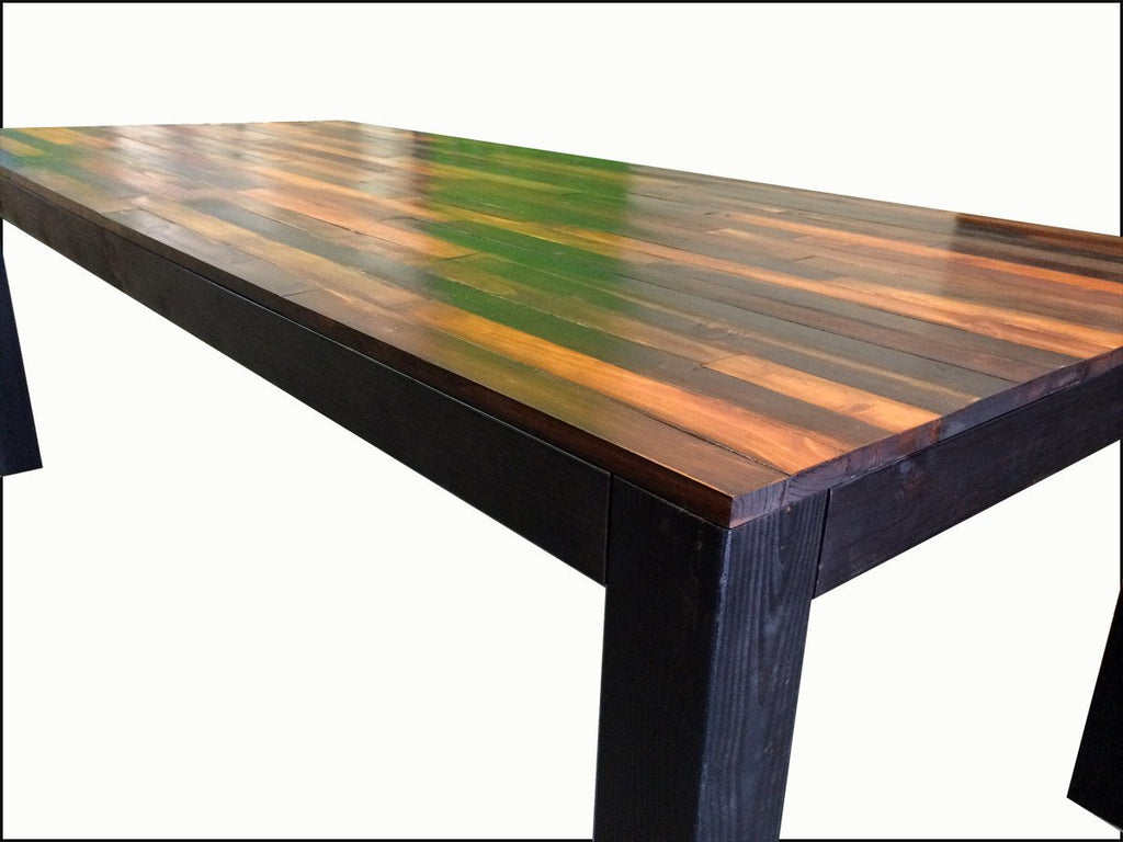 Handmade Weathered Wood Dining Table Scrap Designs