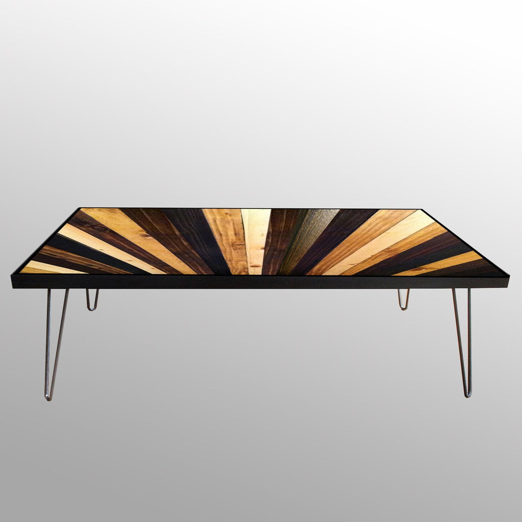 Delicieux Tables   Handmade Wood Sunburst Coffee Table
