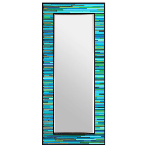 Water Lily Reclaimed Reflection Wood Wall Art - Leaner Mirror, Floor Mirror