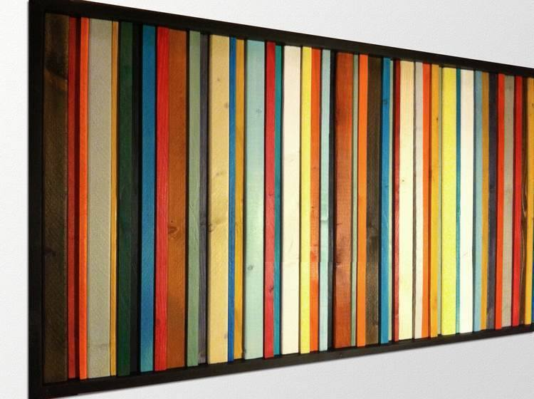 Superbe Fiesta Reclaimed Wood Wall Art