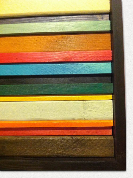 Fiesta Reclaimed Wood Wall Art - texture detail