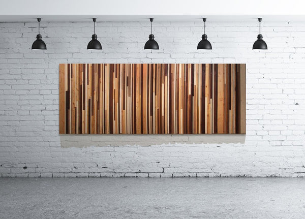 Wood Wall Art - Natural Headboard