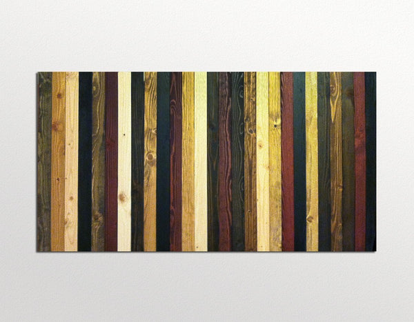 Rustic brown reclaimed wood wall art
