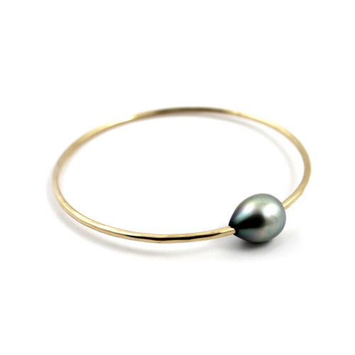 Free to Be Me Jewelry Single Tahitian Pearl Bangle