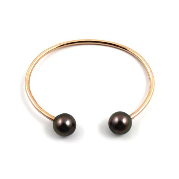 Free to Be Me Jewelry Double Tahitian Pearl Adjustable Cuff