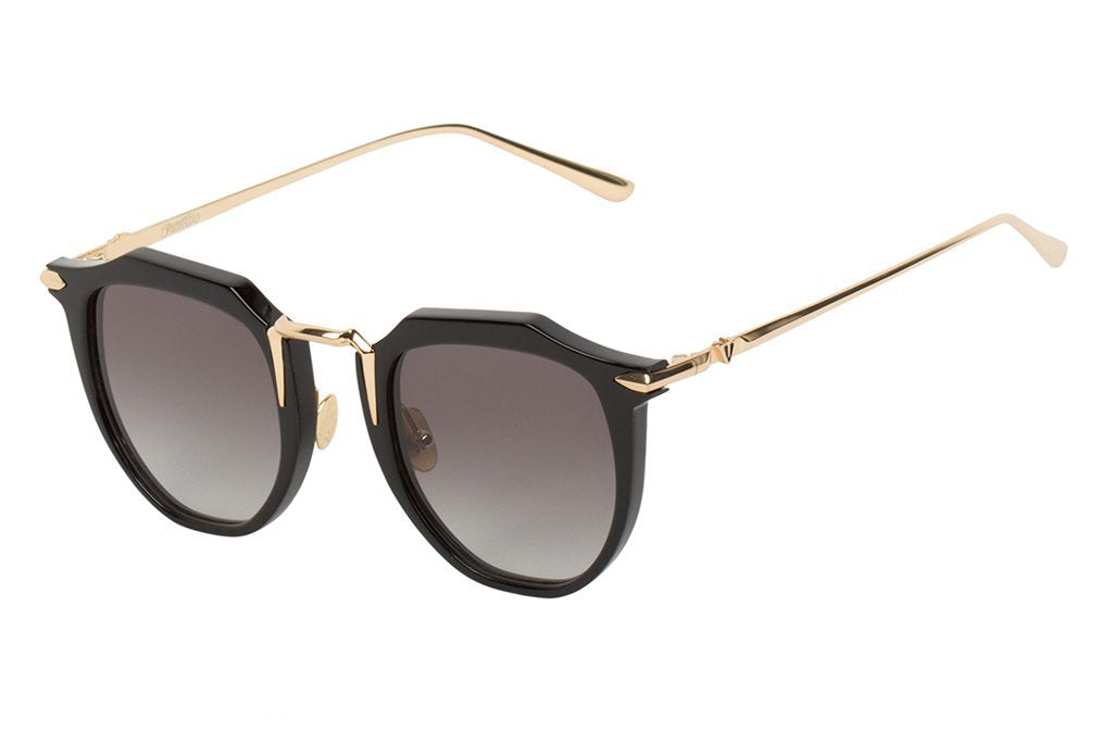 VALLEY EYEWEAR Chateau | Gloss Black w/ Gold Titanium / Black Lens