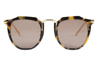 VALLEY EYEWEAR Chateau | Yellow Tort w/ Gold Titanium / Brown Lens