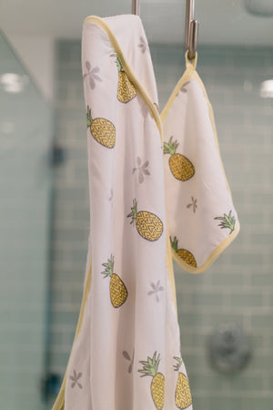 COCO MOON Hooded Towel Set | Pineapple of My Eye