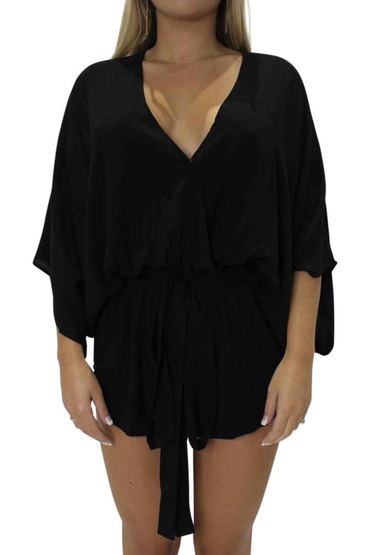 INDAH Sunday Romper | Black