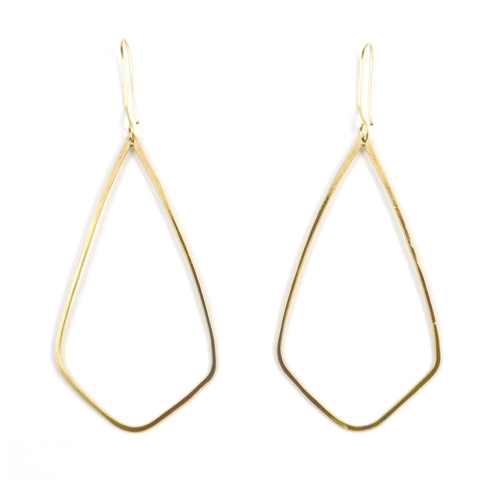 Free to Be Me Jewelry GEO Hammered Earrings