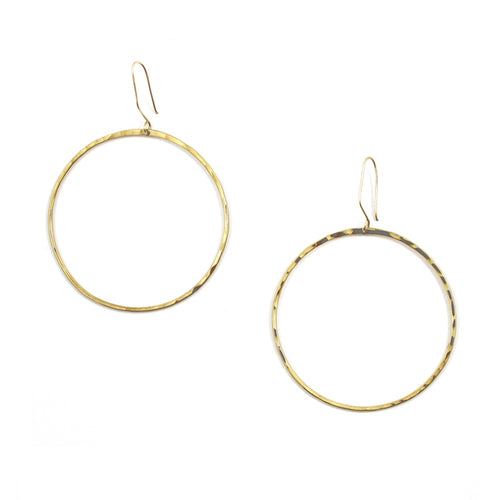 Free to Be Me Jewelry Large Hammered Hoop Earrings