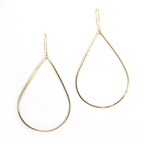Free to Be Me Jewelry Large Hammered Teardrop Earrings