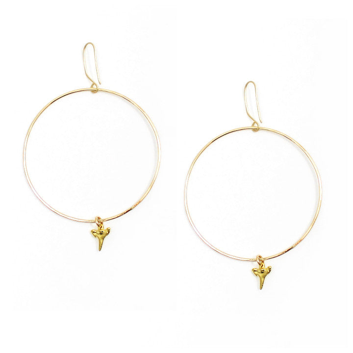 Free to Be Me Jewelry Mini Sharktooth Hoop Earrings