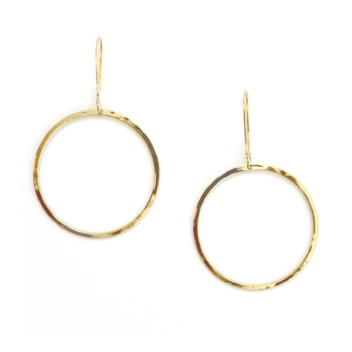 Free to Be Me Jewelry Small Hammered Hoop Earrings