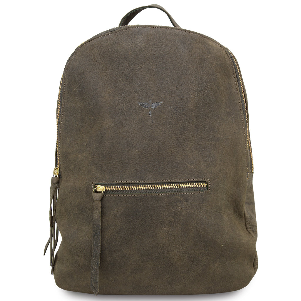CLHEI Gaucho Leather Backpack | Military